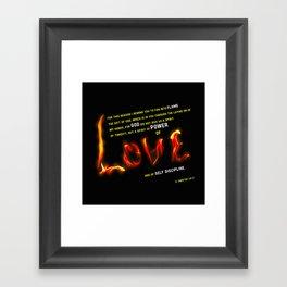 Love's Flame Framed Art Print