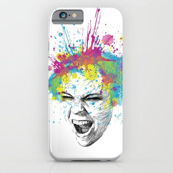 Crazy Colorful Scream iPhone & iPod Case