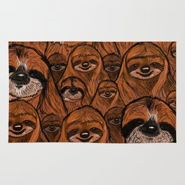 Mountains and mountains of sloths. Rug