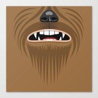 starwars Canvas Prints featuring Chewbacca - Starwars by Alex Patterson AKA frigopie76
