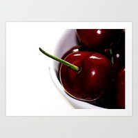 cherry Art Prints featuring Cherry by LoRo  Art & Pictures