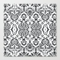 damask Canvas Prints featuring Damask by Pink Fox Designs