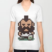 earthbound V-neck T-shirts featuring Mr. T ... Is that you? Earthbound / Mother 2 by Studio Momo╰༼ ಠ益ಠ ༽
