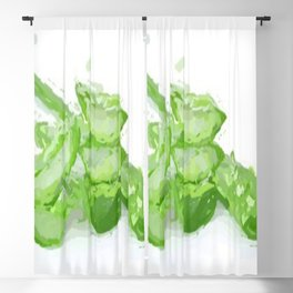 aloe vera painted picture beautiful Blackout Curtain