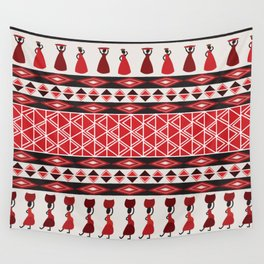 African Tribal Pattern No. 85 Wall Tapestry