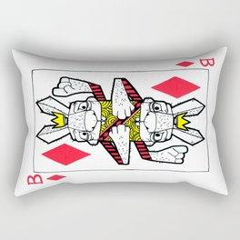 Bizarre Bunny Diamonds Playing Card Rectangular Pillow