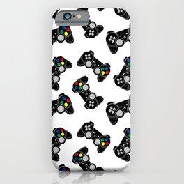 Gaming joystick pattern iPhone Case