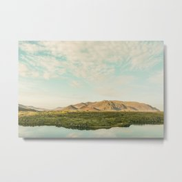 The lake by the mountains Metal Print
