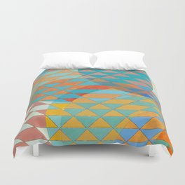 Triangle Pattern No. 11 Circles Duvet Cover