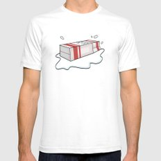 Spilt Milk SMALL White Mens Fitted Tee