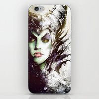 maleficent iPhone & iPod Skins featuring Maleficent by Vincent Vernacatola