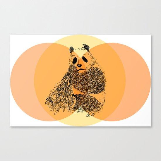 saving panda Canvas Print