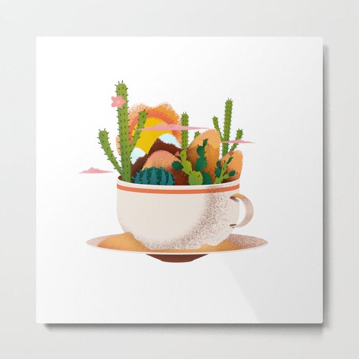 A Desert in a Teacup Metal Print