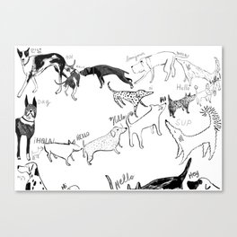 Dogs say Hello Canvas Print