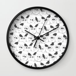Crazy Herd of Sheep Wall Clock