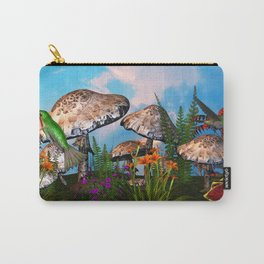 Humming Gardens 3D Scene Carry-All Pouch