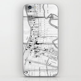 Vintage Map of Coney Island (1879) iPhone Skin
