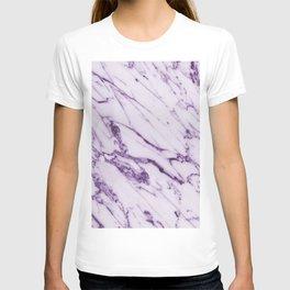 Purple marble T-shirt