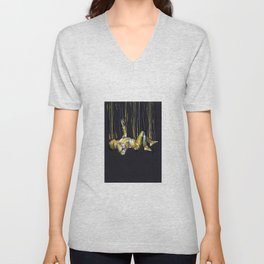 free fall of the lonely man Unisex V-Neck