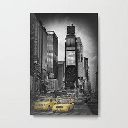 NEW YORK CITY Times Square | colorkey Metal Print