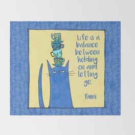life is a balance ... Throw Blanket