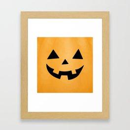 Happy Jack-O-Lantern Framed Art Print