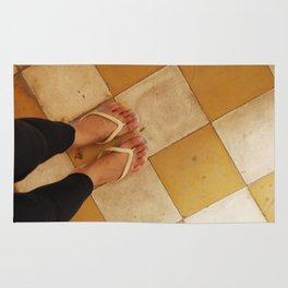 Footsteps in Tuol Sleng Rug