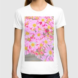 pink daisy in bloom in spring T-shirt