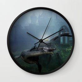 A castle in the ocean Wall Clock