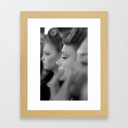 BOKEH BACKSTAGE MODELS Framed Art Print