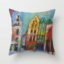 Cologne Old Market Throw Pillow