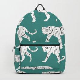 Tiger Print Teal Backpack
