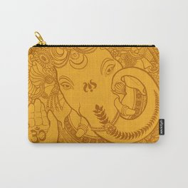 Ganesha Lineart Yellow Carry-All Pouch