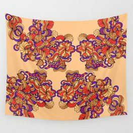 Goldenrod and Violet Wall Tapestry
