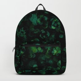 Dark Rich Bold Hunter, Forest, Kelly, Teal and Emerald Backpack
