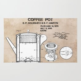 Coffee pot Goldsmith Martyn patent art 1899 Rug