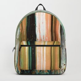 Abstract artwork #17 - The Green Light Of Nature - Abstract painting Backpack