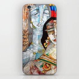 Two Girls Wearing Jewelry iPhone Skin