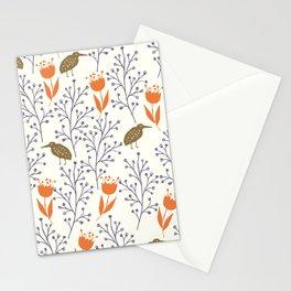 Kiwi Garden - orange Stationery Cards