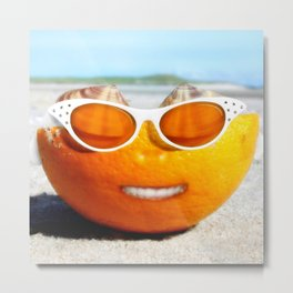 Beached Orange Metal Print