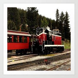 Black Hills Diesel Locmotive # 63 Abstract Art Print