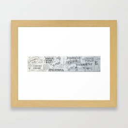 Knysna Type Framed Art Print