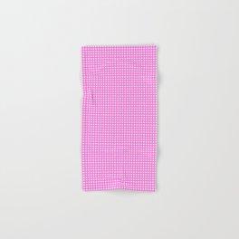 Classic Rockabilly Gingham in Bubblegum Pink Hand & Bath Towel