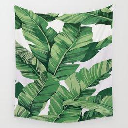 Tropical banana leaves VI Wall Tapestry