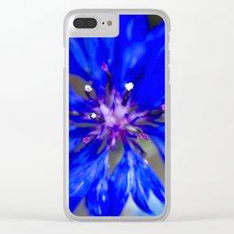 Cornflower Clear iPhone Case