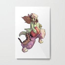 travel skull Metal Print