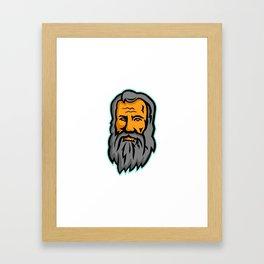 Michelangelo di Lodovico Buonarroti Simoni Mascot Framed Art Print