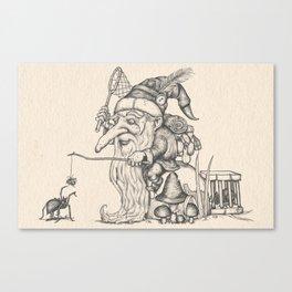 Gnome trapper Canvas Print