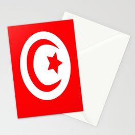 Flag of Tunisia Stationery Cards