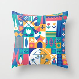 Good-bye, adios, ch'ao, adeus, dosvidania, shalom... Throw Pillow
